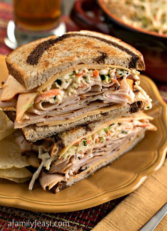 Southwestern Rachel Sandwich with Southwestern Slaw: Boar's Head Boldest Bracket Challenge - A Family Feast