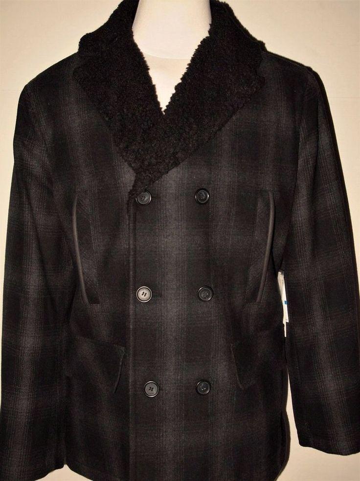Calvin Klein Jeans men's long pea coat jacket size xl   new on sale  #CalvinKleinJeans #BasicCoat