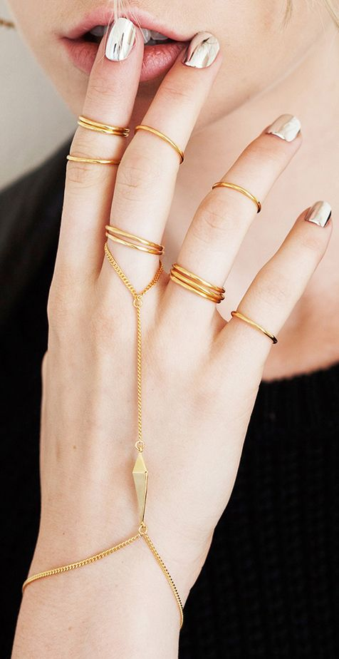 { Layered rings } #jewelry