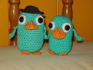 deborah haakt perry het vogelbekdier crochet perry platypus amigurumi