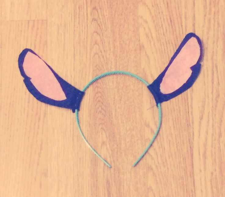 DIY LILO and stitch ears for your Halloween costume