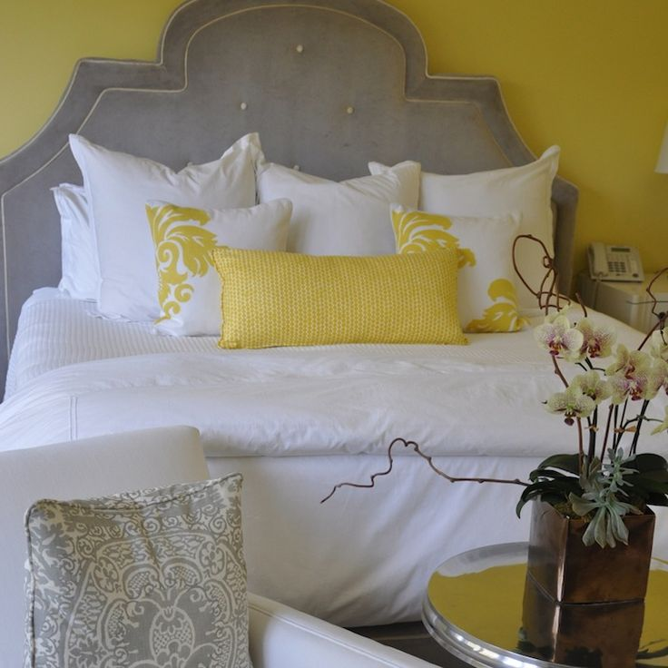 Giannetti Home Bedrooms Yellow And Gray Bedroom Gray And Yellow Bedroom Yellow Walls Gray