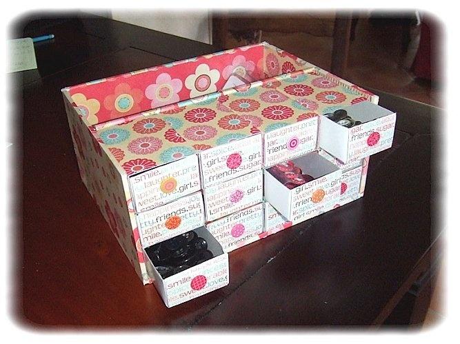 boite bouton avec des boites d 39 allumettes tuto tutorial ft scrap d co pinterest. Black Bedroom Furniture Sets. Home Design Ideas