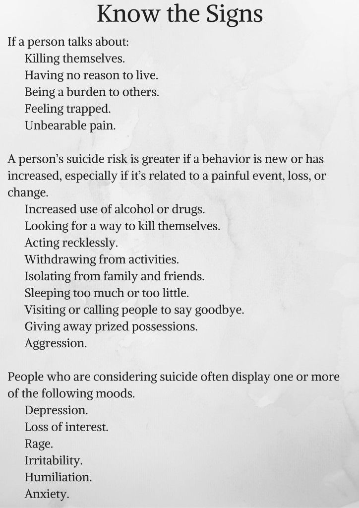 how to know someone is suicidal