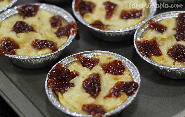 PANELATERAPIA - Blog de Culinária, Gastronomia e Receitas: Tortinha de Queijo com Goiabada