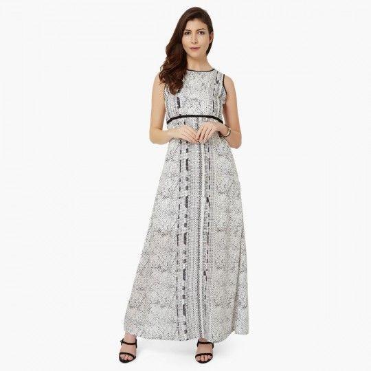 And printed sleeveless maxi dress