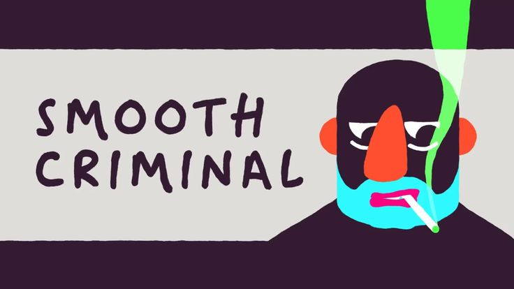 """Smooth Criminal by Max Halley. Shares a lot of elements with Nicolas Menard's work - It is """"hand"""" drawn, consists of quite simple shapes, strong and bright colors with a lot of black - high contrast, harmony within the composition, a little bit quirky/wierd"""