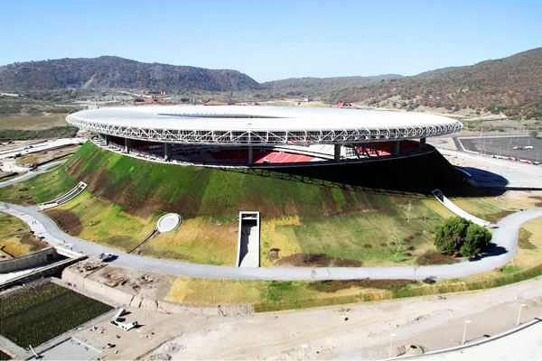 Mexico Unveils Gigantic Green Roofed Volcano Soccer Stadium