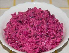 Острый салат из свеклы с черносливом и грецкими орехами