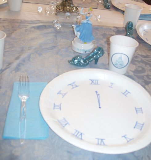 Cinderella Party. Draw a clock at midnight on paper plates. so cute!
