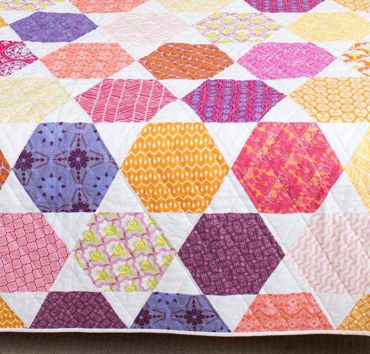1102 best Pleasing Pieced Quilts: Hexagons & Octogons images on ... : hexagon quilt kit - Adamdwight.com