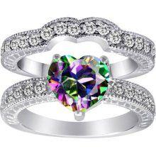 rainbow engagement ring - Rainbow Wedding Rings