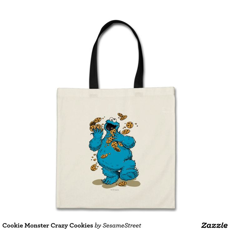 Cookie Monster Crazy Cookies. Regalos, Gifts. #bolso #bag