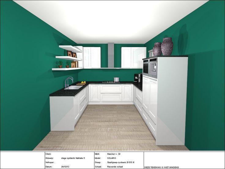 Hoogglans witte u vorm keuken zelf ontworpen tijdens mijn stage bij grando keukens lelystad - Credenza voor keuken ...