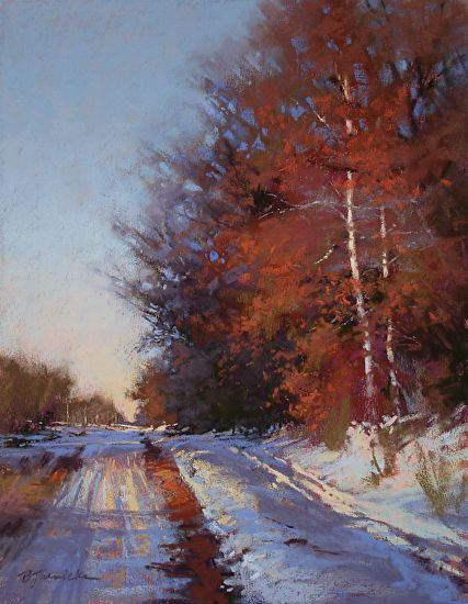 Winter Reds by Barbara Jaenicke Pastel ~ 14 x 11