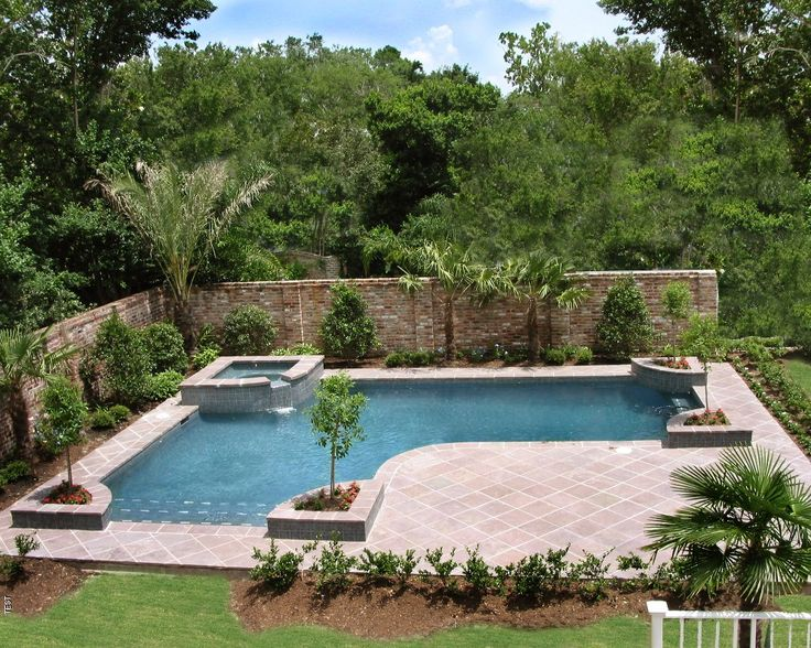Inground pools designed for backyard living residential for Garden pool landscaping