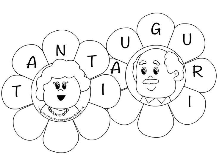 Disegni da colorare per la festa dei nonni: potete stampare questi disegni adatti alla festa dei nonni e trovare tanto altro materiale...