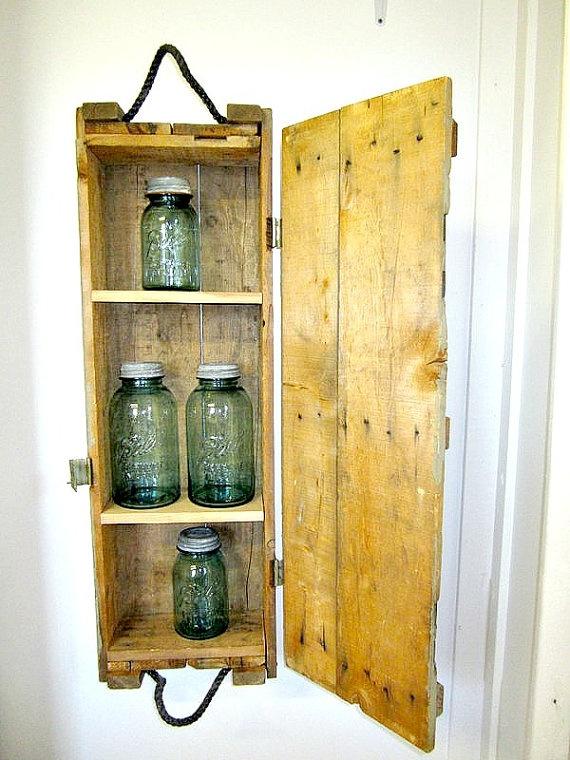 Great Idea Though. Vintage Wood Ammo. Bathroom Medicine CabinetMedicine CabinetsWall  Storage ...