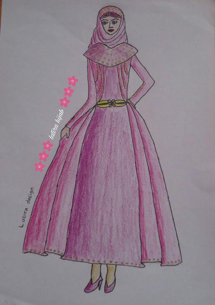 Sketch Design. Muslimah hijab.  Latira Hijab. Gown and dresses.