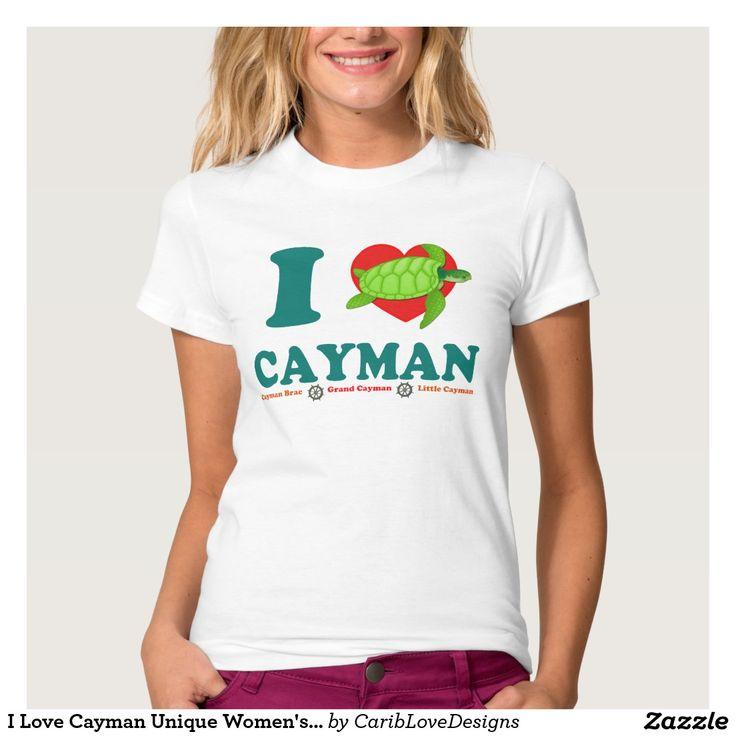 I Love Cayman Unique Women's American Apparel Tee Shirt #CaymanIslands #Iheartcayman #ILoveCayman #CaribLoveDesigns #Zazzle