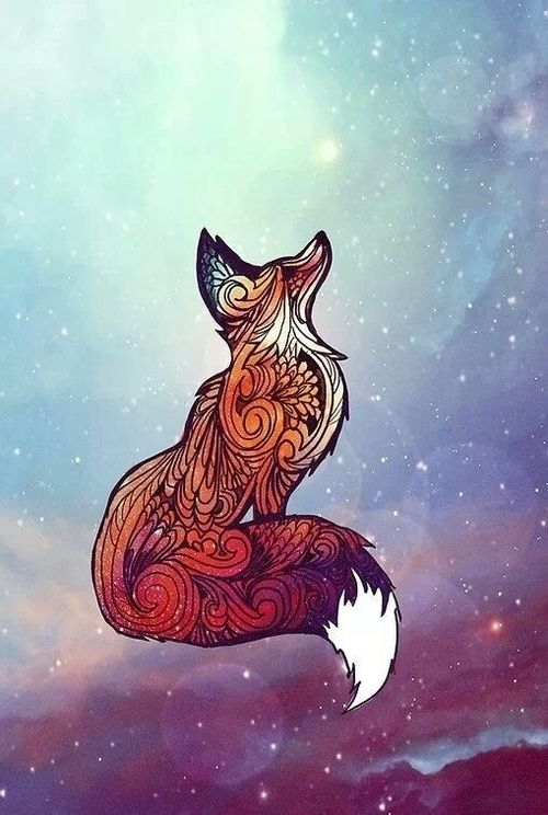 Celestial fox, think this would be a great tattoo design idea
