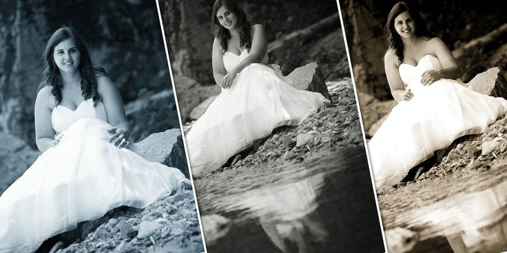 Trash the dress photo session