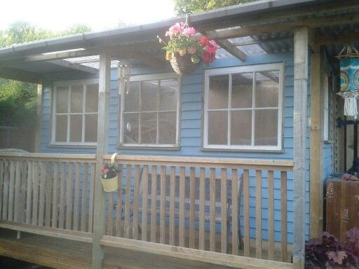 Summer house Made from mostly reclaimed wood & wooden windows.
