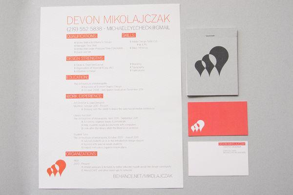 Personal Brand by Devon Mikolajczak, via Behance