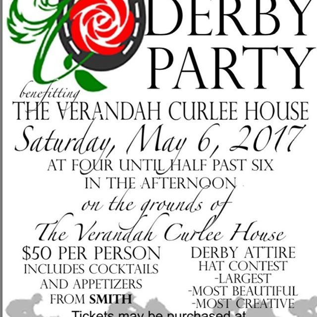 Join us tomorrow in Downtown Corinth for a day full of fun! Derby Party begins at 4pm tomorrow at the Verandah House! See y'all there! Tickets can be purchased at the door 🐎👒🌹 #holdyourhorses #derby #kentuckyderby #derbyparty #downtowncorinth #coke10k