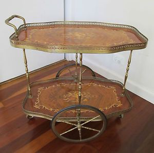 A fabulous example of marquetry on this stunning drinks trolley! Very chic!