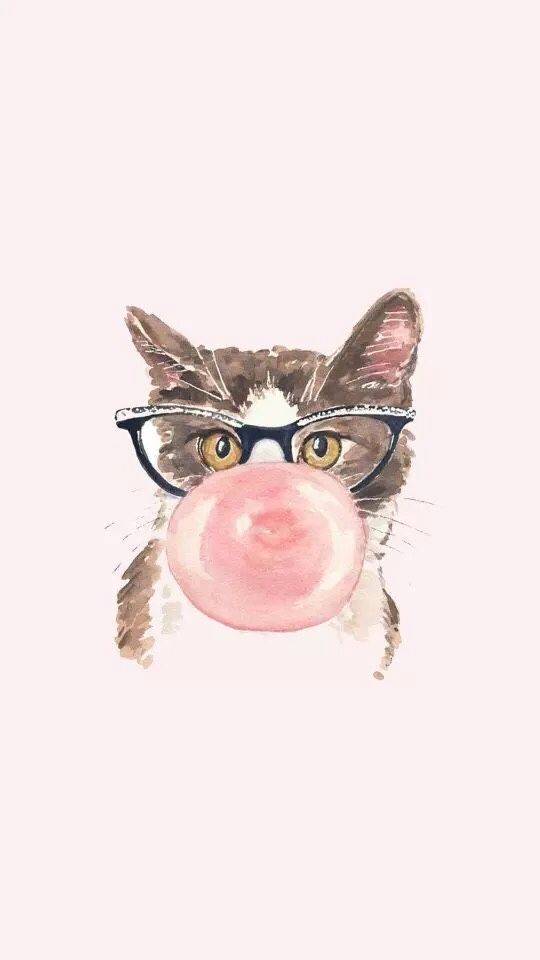 Iphone Wallpapers W A L L P A P E R S Pinterest Watercolor Cat