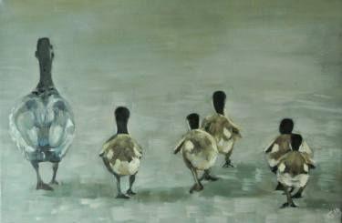 "Saatchi Art Artist Alex Jabore; Painting, ""School Run"" #art"