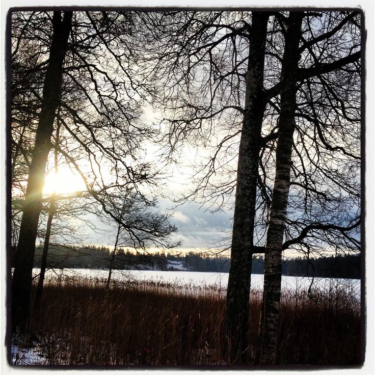 Swedish lake winter 2012