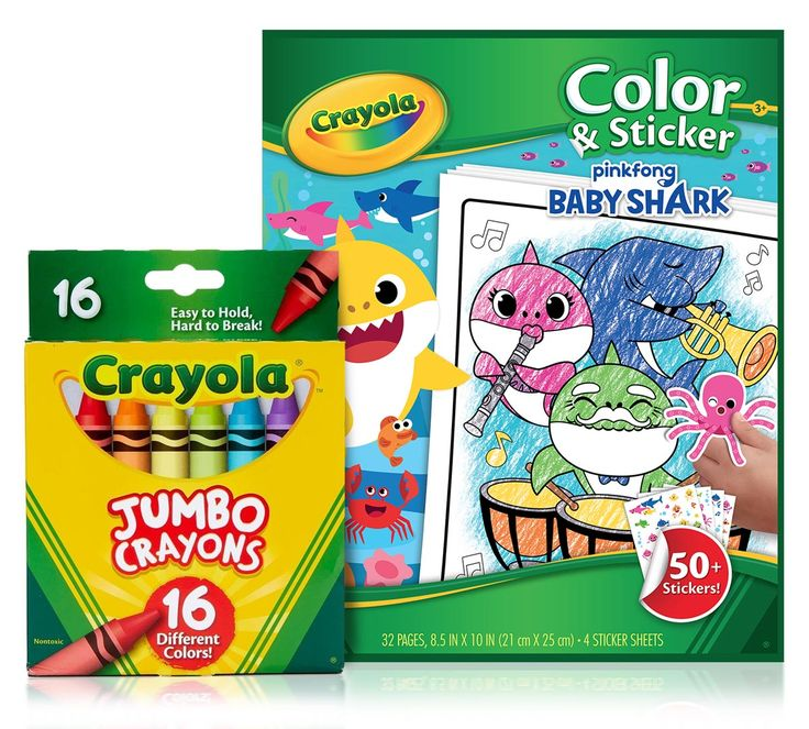 Baby Shark Coloring Set with Jumbo Crayons | Crayola.com ...