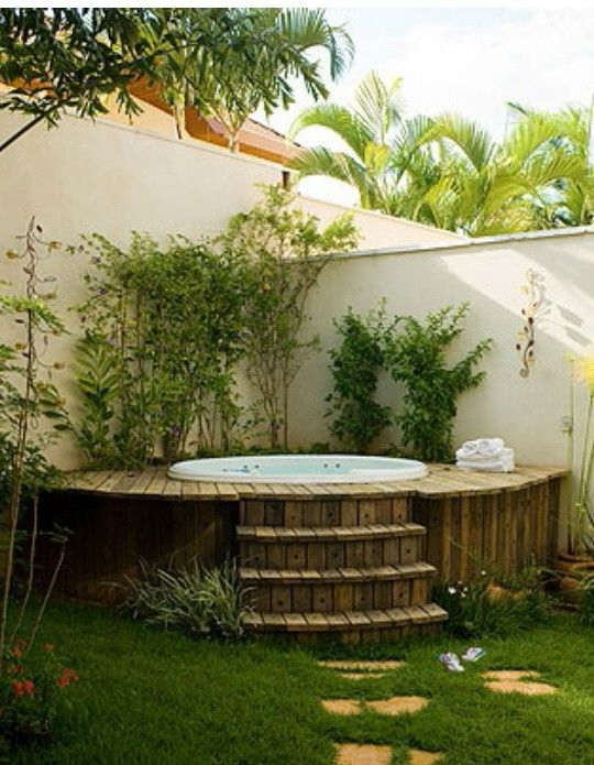 Les 32 meilleures images propos de espace spa et sauna - Jacuzzi de jardin ...