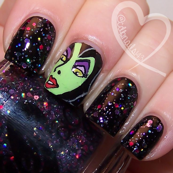 Mistress Of All Evil by ellagee.com with nail art by cdbnails.