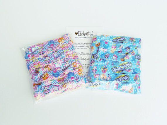 Shopkins Inspired Bulk Pack x30 Soft Elastic by EnchantedHairTies