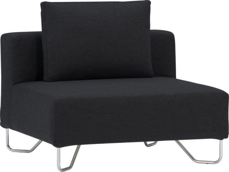 Lotus Antrazit Armless Chair Cb2 Cca Pinterest