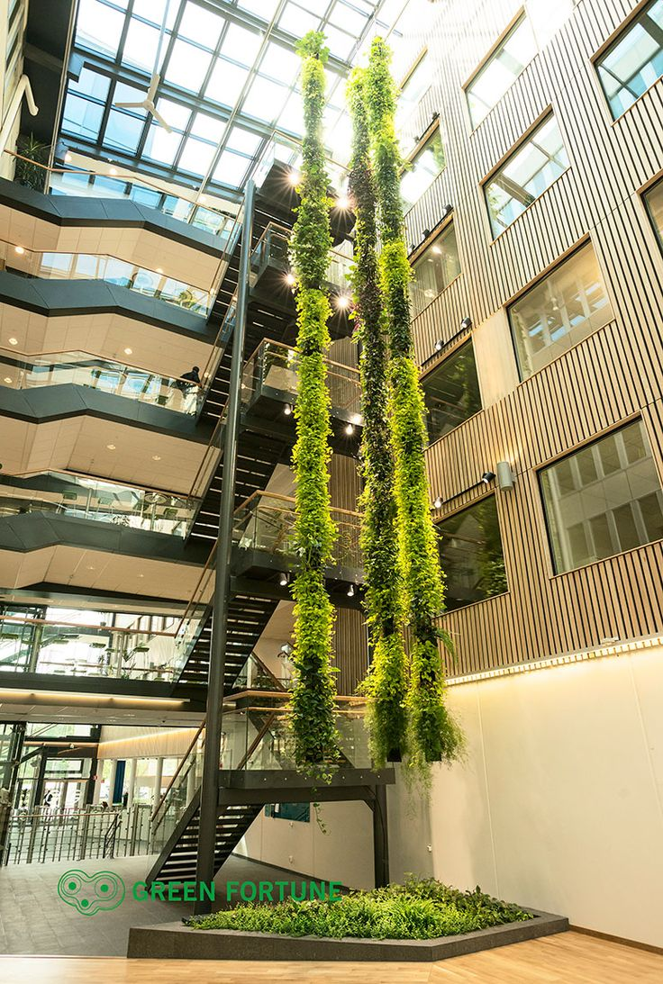 Livewall green wall system make conferences more comfortable - A Plantwire Installation At G Teborg Energi Sweden