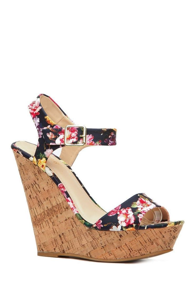 Floral Print Faux Leather Cork Wedges @ Cicihot Wedges Shoes Store:Wedge Shoes,Wedge Boots,Wedge Heels,Wedge Sandals,Dress Shoes,Summer Shoes,Spring Shoes,Prom Shoes,Women's Wedge Shoes,Wedge Platforms Shoes,floral wedges #promheelswedges #platformhighheelsfloralprints #promshoeswedges