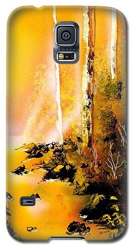 Yellow River Galaxy S5 Case Printed with Fine Art spray painting image Yellow River by Nandor Molnar (When you visit the Shop, change the orientation, background color and image size as you wish)