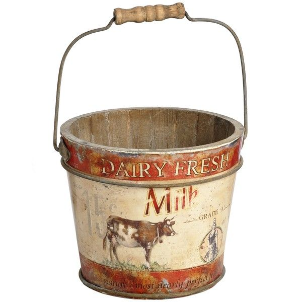 Farmyard Milk Pail A Great Decoration For The Home Storage With Bit Of