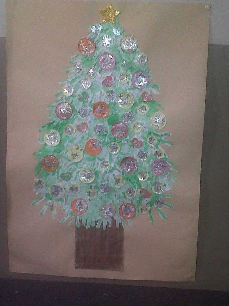 Our version of the handprint christmas tree