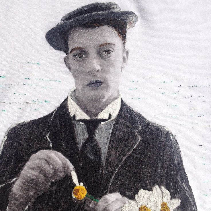 Buster Keaton T-shirt Painted On relief Art To Wear Tshirt