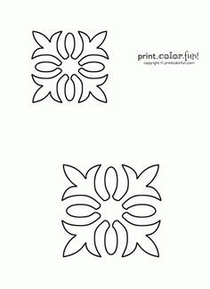 Free Quilting Stencils | Hawaiian quilt stencil | Print. Color. Fun! Free printables, coloring ...