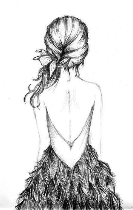 sketches: Girls, Sketch, Inspiration, Beautiful, Things, The Dresses, Hair, Fashion Illustrations, Drawings Ideas