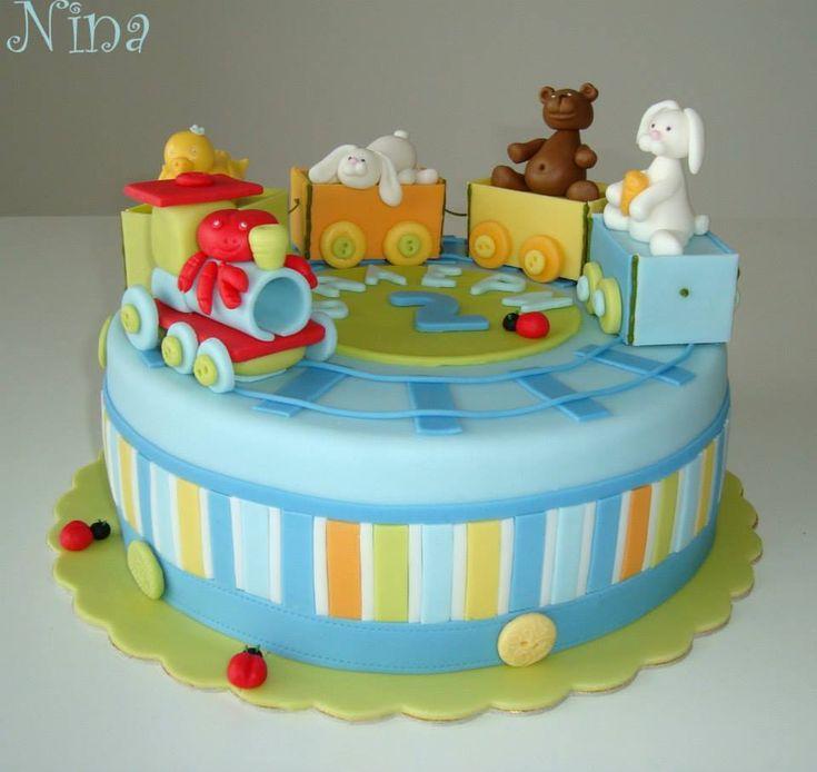 Train Baby Shower Cake Part - 34: Train Baby Shower Cake