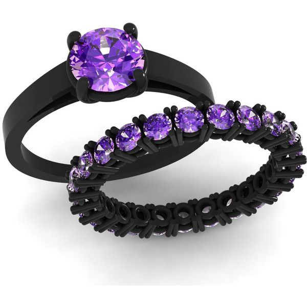 black and purple wedding rings 39 best images about i do on black gold 1807
