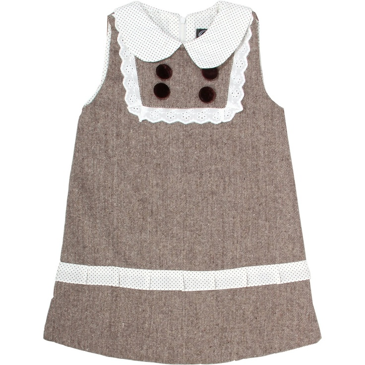 Penelope retro tweed dress - Oobi - Brand