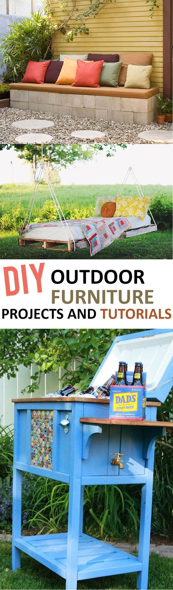 Outdoor, outdoor furniture, DIY outdoor furniture, outdoor living, outdoor DIY, gardening hacks, outdoor décor, porch décor, outdoor entertainment, outdoor activities